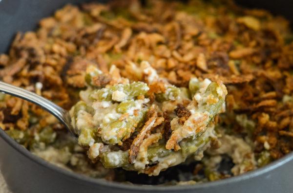 green bean casserole in the ninja foodi