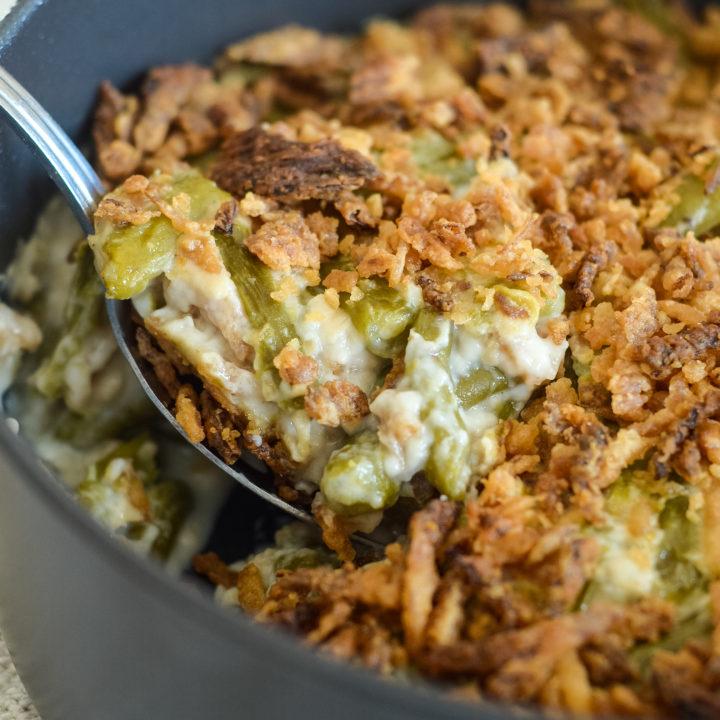 Easy Green Bean Casserole in the Ninja Foodi