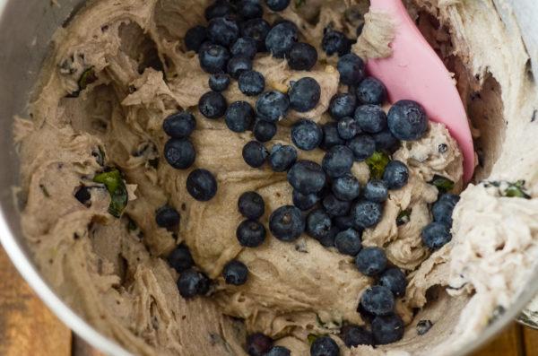 blueberry bread batter