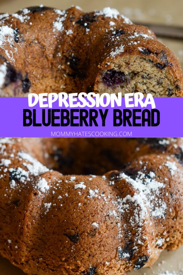 Blueberry Bread (Depression Era Recipe)