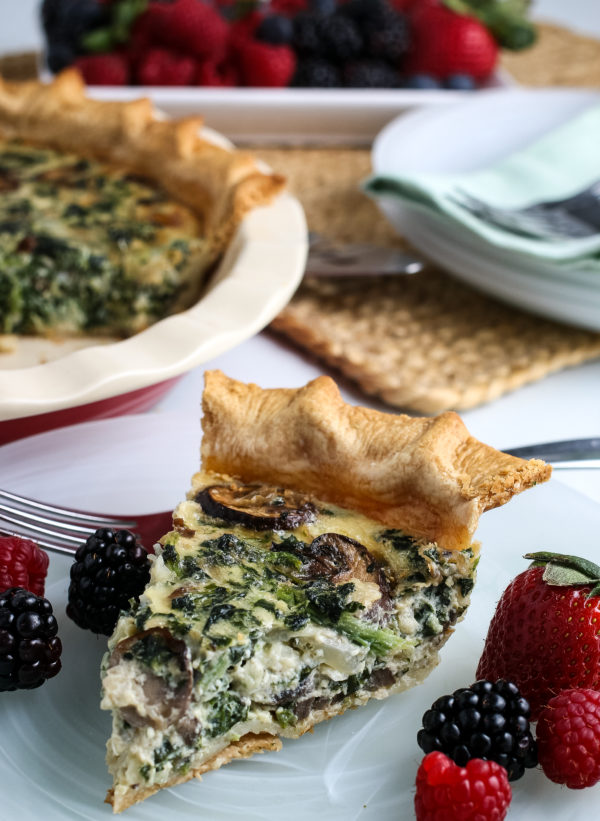 Easy Spinach Quiche (Gluten-Free Optional)