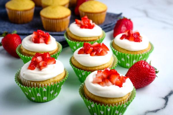 Gluten-Free Strawberry Shortcake Cupcakes