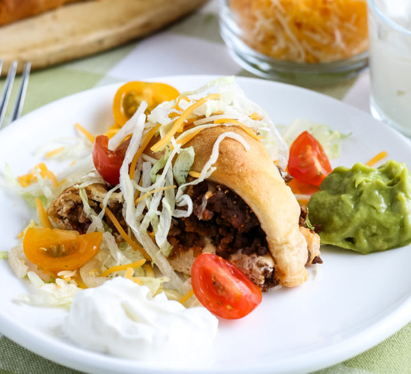 Easy Taco Ring with Crescent Rolls