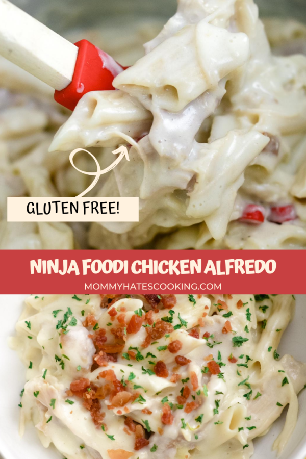 Ninja Foodi Chicken Alfredo