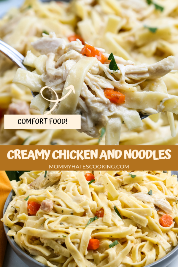 Homemade Creamy Chicken and Noodles