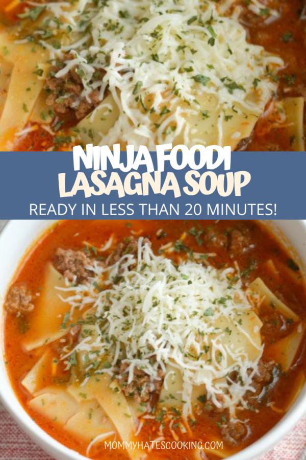 Ninja Foodi Lasagna Soup