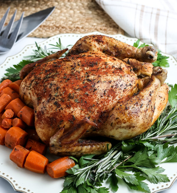 Simple Crockpot Whole Chicken