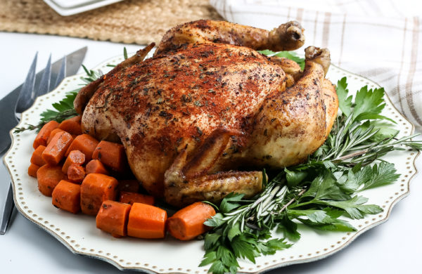 Simple Crockpot Whole Chicken