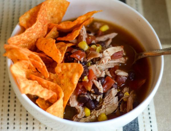 Ninja Foodi Chicken Taco Soup (Gluten-Free)