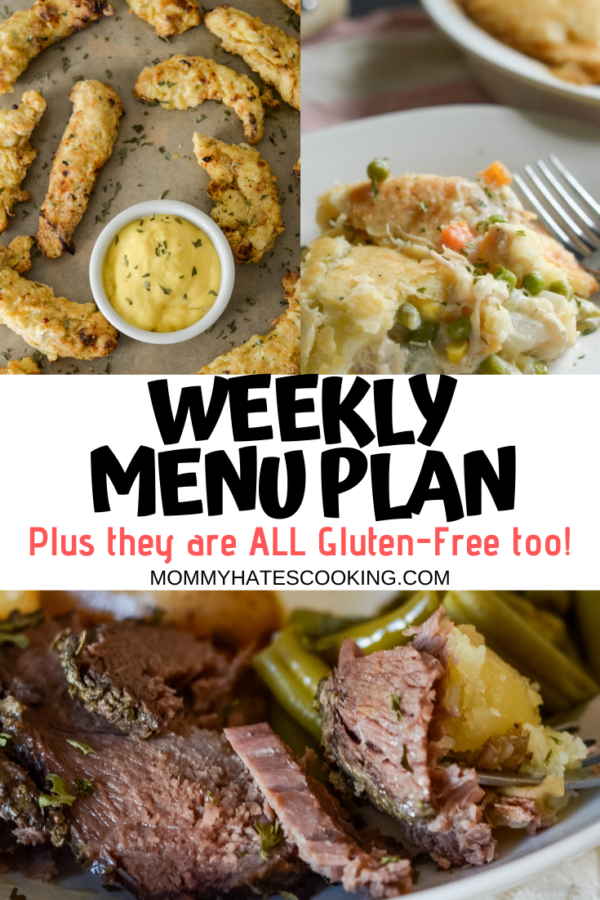 weekly menu plan