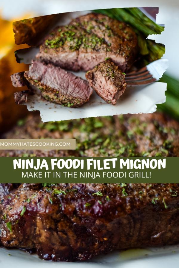 Ninja Foodi Grilled Filet Mignon