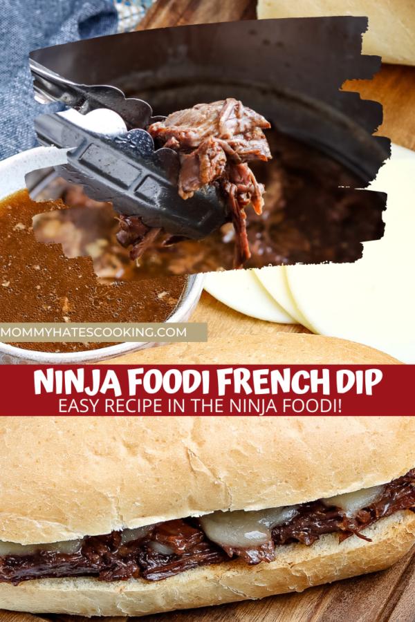 Ninja Foodi French Dip Sandwiches