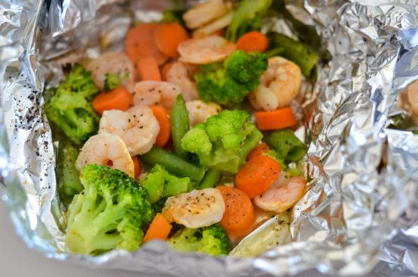 Ninja Foodi Grilled Shrimp Foil Packs