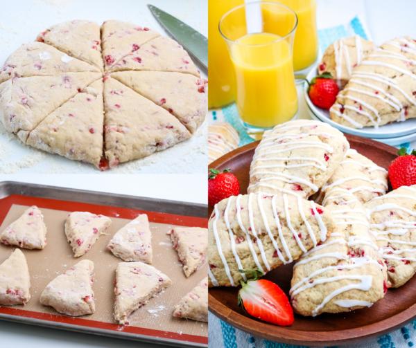 Easy Strawberry Scones (Gluten-Free Optional)