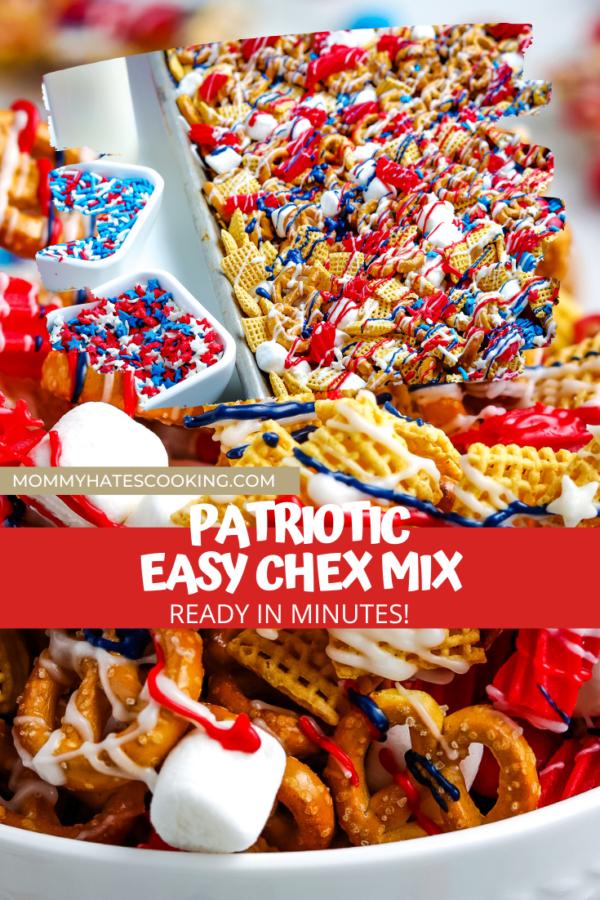 patriotic chex mix