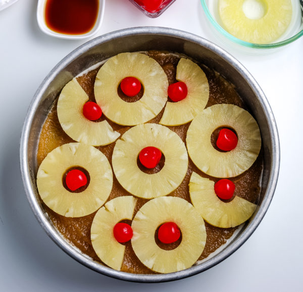 gluten free pineapple upside down cake process
