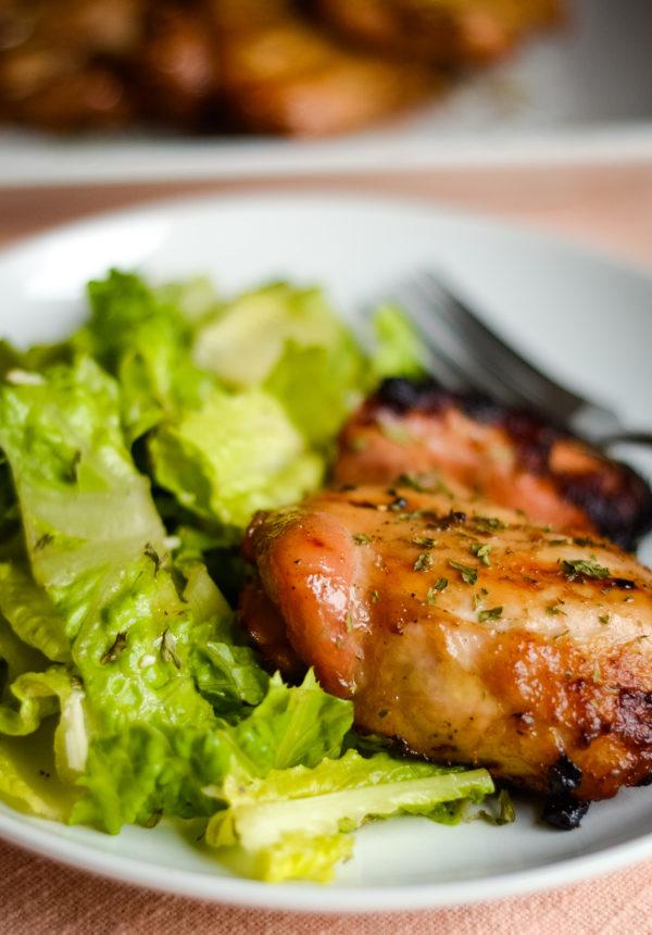 Pellet Grilled Chicken Thighs