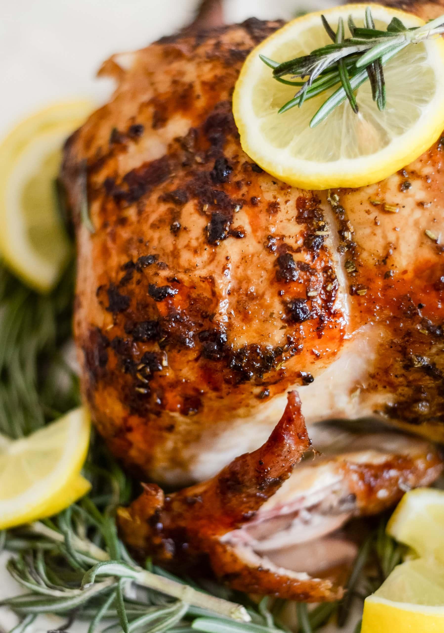 Pellet Grill Rotisserie Chicken