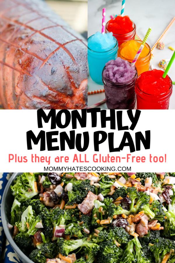 monthly menu plan june