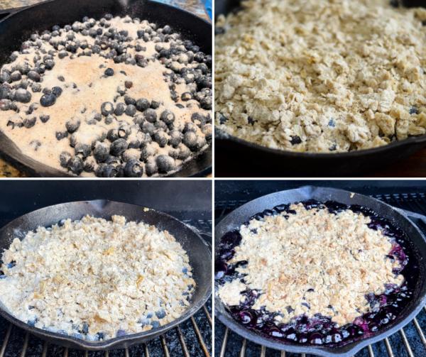 grilled blueberry crisp