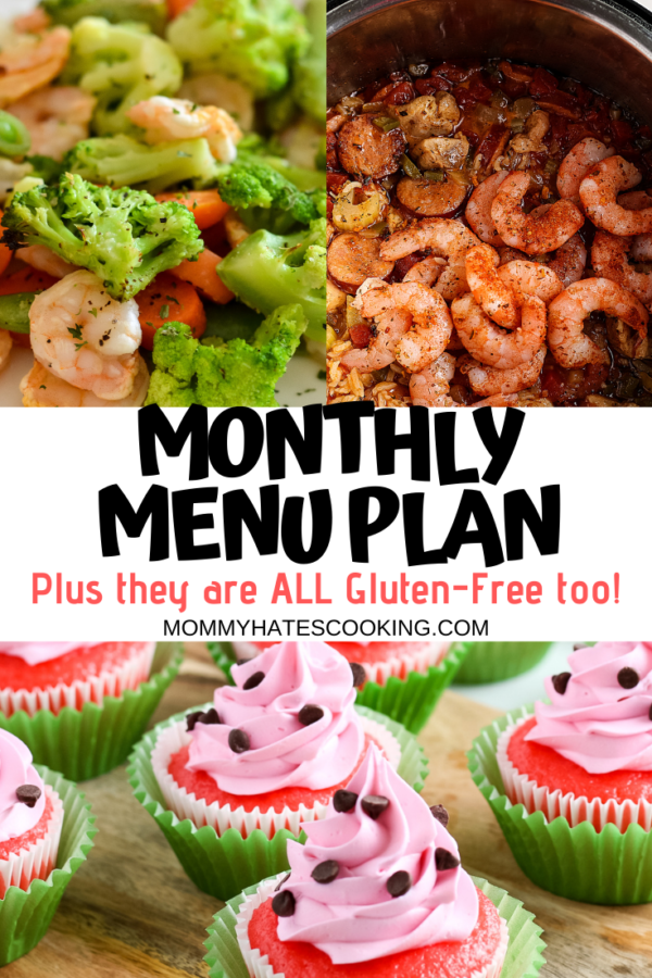 monthly menu plan for july