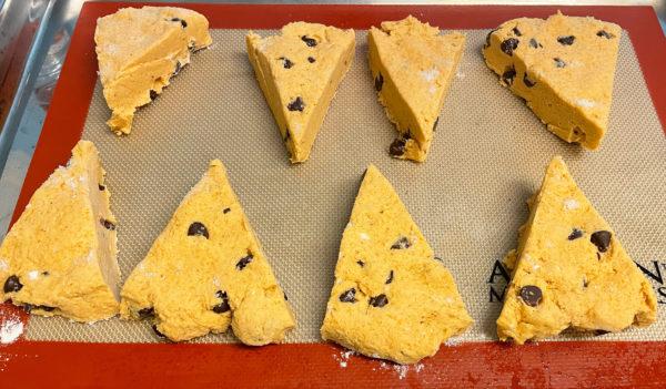 gluten-free pumpkin chocolate chip scones
